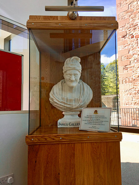 Marble bust of James Gillespie