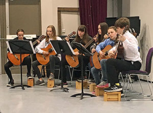 classical guitar group at James Gillespie's High School